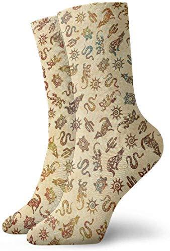 Southwest Tribe Animal Icon Chaussettes de compression antidérapantes pour homme, femme, enfant
