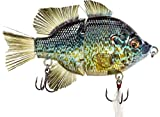 4.5' RF Gillman Glide Bait Bass Musky Striper Fishing Big Lure Multi Jointed Shad Trout Kits Slow Sinking or Floating (4.5' Pumkpkinseed Sink)