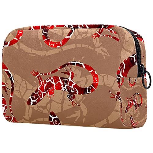 Reise-Make-up-Tasche Kleine Kosmetiktaschen für Frauen Tragbare Reißverschlusstasche mit großer Kapazität Textur und Risse für den täglichen Gebrauch der Geldbörse