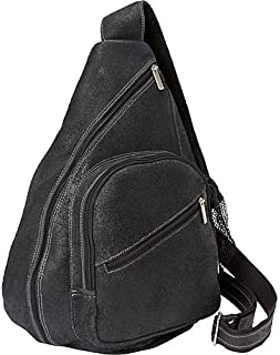 David King & Co. Backpack Style Cross Body Bag Distressed, Black, One Size