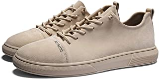 AUCDK Men Canvas Sneakers Casual Lightweight Plate Shoes Breathable Sneakers Summer Cloth Shoes