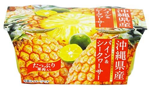 谷尾食糧工業 黄金の果実沖縄県産パイン&シークワーサーゼリー2連 140gX2 ×6個