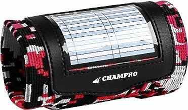 CHAMPRO Sports Dozen (12) Pack, Youth 3 Pocket Football Baseball Wrist Band Coach, Camo Colors