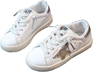Spring Kids Sparkle Star Sneakers Casual Shoes for Girls Boys