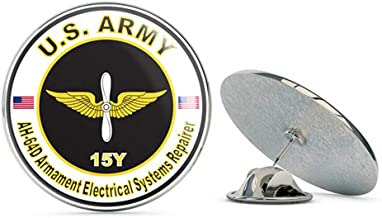 Veteran Pins U.S. Army MOS 15Y AH-64-D Armament Electrical Systems Repairer Metal 0.75