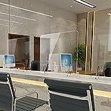 YYDS Bancone Divisori uffici Separatore per Banconi Barriera Protettiva Parasputi Plexiglass Trasparente da banco Protettiva Divisorio per posti Lavoro scuole Banca Ricezione(Size:W1200 x H600mm)
