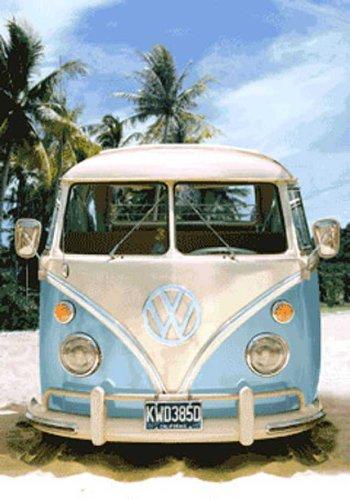 empireposter – Volkswagen – VW bus versie 2 – maat (cm), ca. 47 x 67-3D poster, NIEUW -