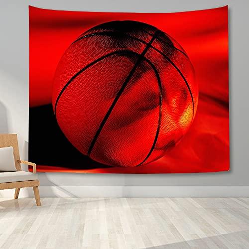 KHKJ Tapiz de Pared de Baloncesto Impreso en 3D para el Dormitorio de los niños Adolescentes Tapiz para Colgar en la Pared Tapices de Tela de Fondo del Dormitorio del hogar A8 200x150cm