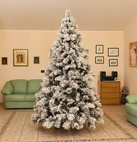 Joy Christmas Albero di Natale Innevato Lusso 180 cm Abete Natalizio con Neve 50091