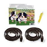 Iperon® 2 x Bio Flohhalsband Hund 60 cm Ungezieferschutz Flöhe