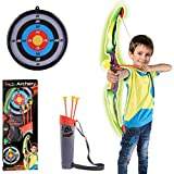 COPIC Pfeil und Bogen Set für Kinder mit Köcher zum Bogenschießen inkl. 3 Pfeile 62cm Kinderbogen für ab 6 Jahre Kinder Schießbogen Jugendbogen für Anfänger Jugendliche Indoor Outdoor