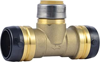 SharkBite 1-1/4 x 1-1/4 x 1-Inch Reducing Tee, Push-To-Connect, PEX, Copper, CPVC, Brass
