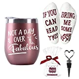 wine accessory gifts - Moyel Wine Gifts For Women Wine Tumbler & Wine Socks Gift Sets For Wine Lovers