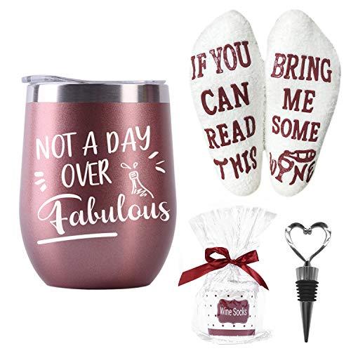 Moyel Wine Gifts For Women Wine Tumbler & Wine Socks Gift Sets For Wine Lovers