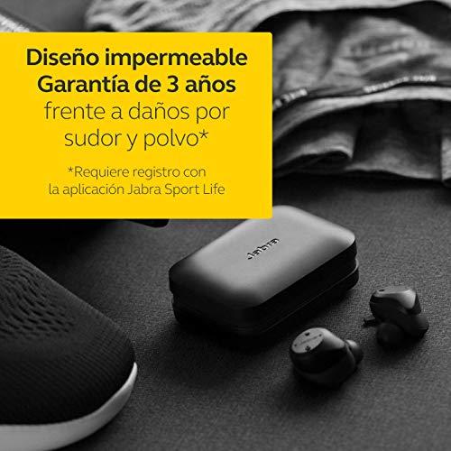 Jabra Elite Sport – Auriculares Deportivos Inalámbricos, Aplicación Fitness Integrada para Llamadas y Música, Negro