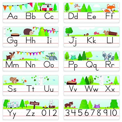 Creative Teaching Press Woodland Friends Traditional Manuscript Alphabet Line Bulletin Board (Room Displays and Decoration for Classrooms, Learning Spaces and More) (8597)