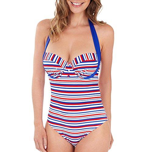Lepel Swimwear Sailor Swimsuit 68682 Blue/Red/White 32FF
