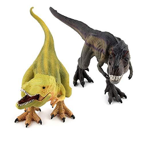 Hging Jurassic World Indominus Rex Giallo 2pcs Jumbo Dinosaur Set, Giocattolo Dinosauro 13 Guardando Realistico Dinosauro Set di Giocattoli Dinosauro per Regalo di Festa, Ragazzi Ragazze Regali di co