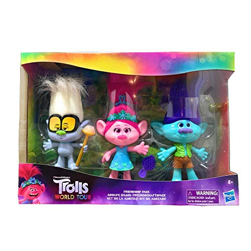 Hasbro DreamWorks Trolls World Tour Friendship Pack - 3 Piece Dolls