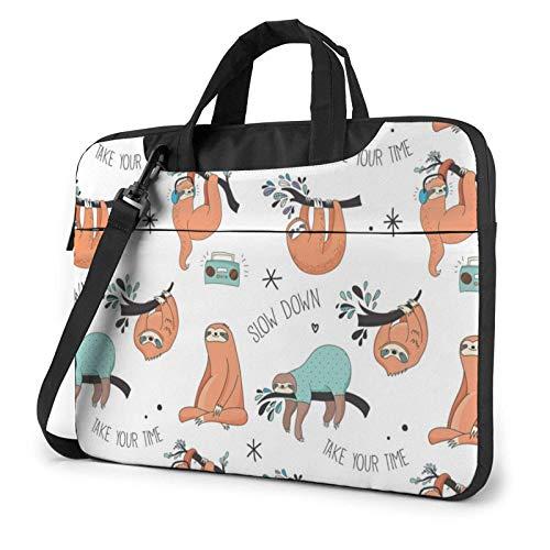 Brown Laptop Shoulder Bag Messenger Bag Briefcase Handbag Laptop Case Sleeve for 13' 14' 15.6'