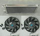 Interenfriador de aire a agua de 533 x 168 x 56 mm + ventilador turbo intercambiador de calor líquido universal de 53 x 16,8 x 5,7 cm. Montaje frontal