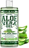 Aloe Vera Gel (16oz) - Calming & Anti-Inflammatory Aloe Vera Moisturizer - Made in USA - Soothing, Cooling & Hydrating Gel - Pure Aloe Vera Face & Body Moisturizer - Cuts, Wounds & Sunburns Relief