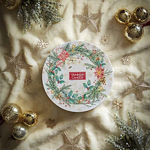Yankee Candle confezione regalo   Candele profumate natalizie   18 candele tea light e 1 porta candela tea light   Collezione Magical Christmas Morning