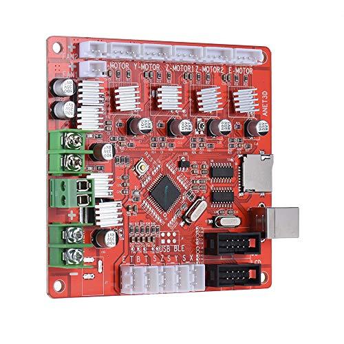 Placa base para impresora 3D de Sookg, con interfaz USB, entrada de fuente de alimentación de 12 V, Reprap prusa I3 Suite Control Panel para A6 3D Printing