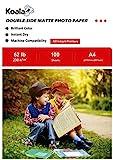 KOALA Papel Fotográfico de Doble cara Mate para Inyección de Tinta A4, 230 g/m², 100 hojas. Adecuado para imprimir Fotos, Portadas, Certificados, Folletos, Volantes, Tarjetas, Calendarios, Artes