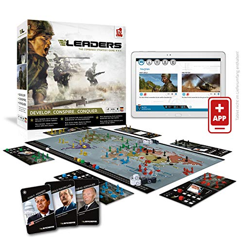 Rudy Games Leaders, Interaktives Strategiespiel mit App, Kampf um die Weltherrschaft mit Freunden und der ganzen Familie, Ab 10 Jahren, Für 2-6 Spieler