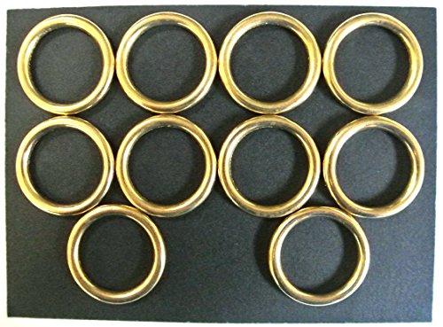 laiton massif 25 mm Joints toriques X2, X5, X10 Idéal pour laisse de chien, colliers, cheval, Règne, cuir, travaux manuels, 25mm