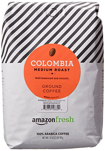 AmazonFresh Colombia Ground Coffee, Medium Roast, 32 Ounce