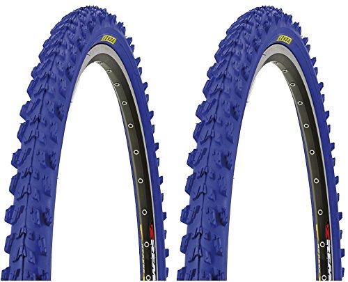 KENDA 2 x MTB Reifen farbige Fahrradreifen 26 Zoll 50-559 26 x 1.95 (BLAU)
