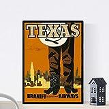 Vintage Poster Nacnic. Vintage Poster Amerika. Texas
