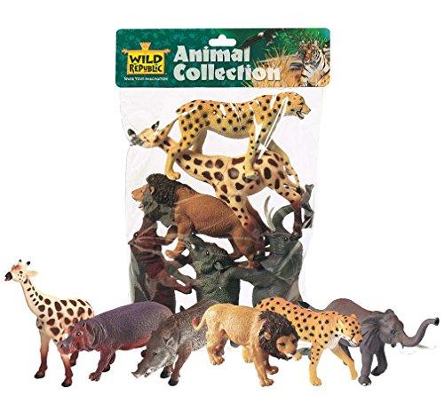 Wild Republic 64003 - Animali africani, confezione da 6