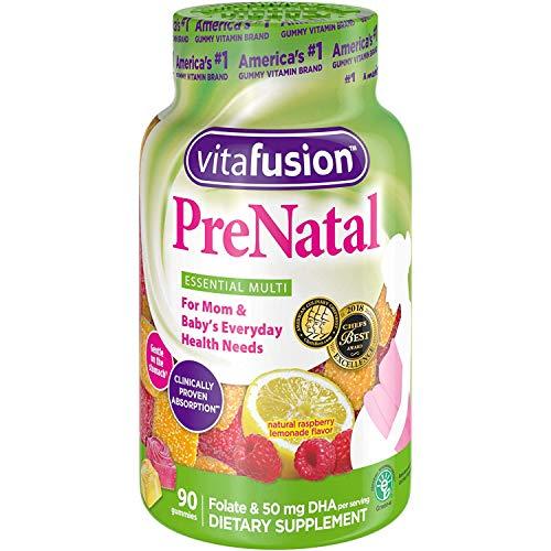 VitaFusion PreNatal Gummies, 90 Count (Pack of 9)