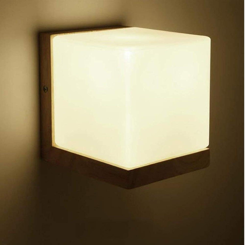 Moderne Wandleuchte Massivholz Kopf Glas Wandleuchte Indoor Energiespar Schlafzimmer Nacht Kunst Führte Ganglichter Wand Scon