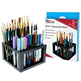 U.S. Art Supply 96 Hole Plastic Pencil & Brush Holder -...