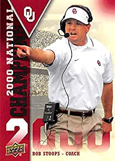 Bob Stoops football card (Oklahoma Soones) 2011 Upper Deck #NC-BS 2000 National Champions