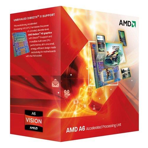 AMD A6 3500 (2,1GHz, FM1 Sockel, L2, 3MB, 65 Watt PIB) Prozessor