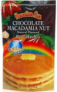 Hawaiian Sun Chocolate Macadamia Nut Pancake Mix 6-ounce (Pack of 12)