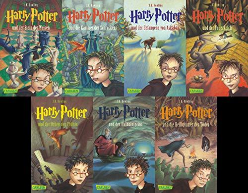 Harry Potter - Stein der Weisen / Kammer des Schreckens / Gefangene von Askaban / Feuerkelch / Orden des Phönix / Halbblutprinz / Heiligtümer des Todes als Taschenbuch