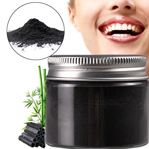 Zahnaufhellung, Aktiviert Bambuskohle Zahnpasta Natürliche Zahnaufhellung Pulver Zähne Entfernen Halitosis Plaque Zahnpasta 100% Natürliche Zähne Aufheller (schwarz)
