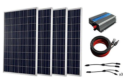 ECO-WORTHY 1000W completo Kit Solar: 10* 100W Panel Solar con 1kW inversor para RV casa Kit, 400W