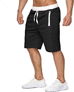 CARWORNIC Men's Athletic Workout Shorts Lightweight Bodybuilding Gym Running Basketball Shorts with Zipper Pockets