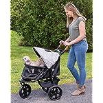 Pet Gear AT3 No-Zip Pet Stroller, Summit Grey 8