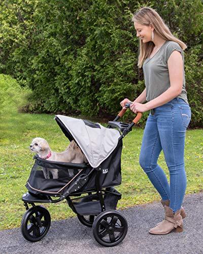 Pet Gear AT3 No-Zip Pet Stroller, Summit Grey 2