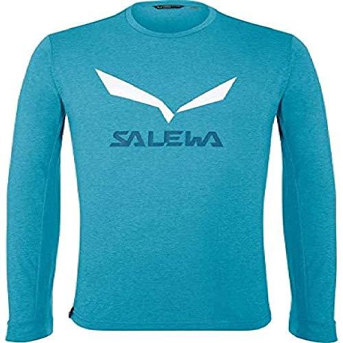 Salewa 00-0000027340_8989 T-Shirt Homme, Blue Danube Melange, FR : M (Taille Fabricant : 48/Medium)