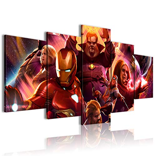 AivGEG 5 Pezzi Sharingan Poster Movie Avengers: Infinity War Hotel 150x80 incorniciato