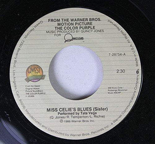 Tata Vega 45 RPM Miss Celie's Blues (Sister) / Celie Shaves Mr./ Scarification Ceremony